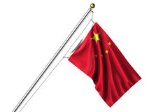 Isolated Chinese Flag Royalty Free Stock Photo