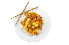 Isolated chinese food Stock Image