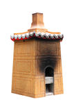 Isolated Chinese Furnace. Isolated picture of a chinese furnace used for burning incense Stock Image