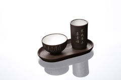 Isolated chinese tea pair Stock Photo