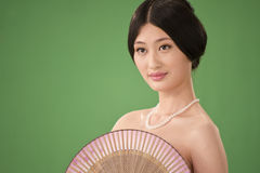 Isolated Chinese woman Stock Image