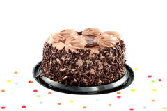 Isolated chocolate cake Royalty Free Stock Image