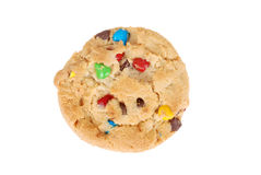 Isolated chocolate chip candy cookie royalty free stock photos