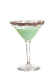 Isolated chocolate grasshopper cocktail Stock Image