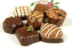 Isolated chocolates Royalty Free Stock Photos
