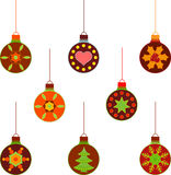 Isolated Christams Tree Ornament Illustrations Stock Images