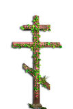 Isolated Christian cross with flowers Royalty Free Stock Image