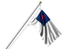 Isolated Christian Flag Stock Photo