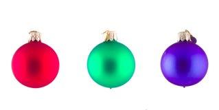 Isolated Christmas Balls Royalty Free Stock Image