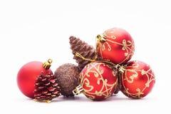 Isolated christmas balls stock photography