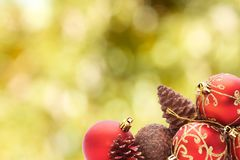 Isolated christmas balls royalty free stock photography