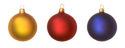 Isolated christmas baubles Stock Photo