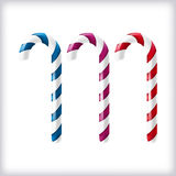Isolated christmas candycanes over white background Stock Image