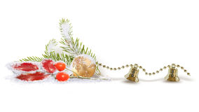 Isolated Christmas composition Royalty Free Stock Images