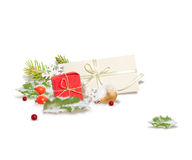 Isolated Christmas composition Royalty Free Stock Image