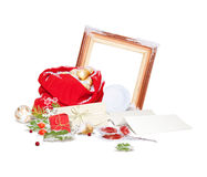 Isolated Christmas composition Stock Photos