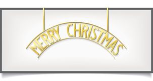 Isolated Christmas design lettering on billboard Stock Photography