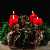 Isolated Christmas Flower Arrangement Royalty Free Stock Photos