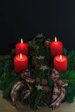 Isolated Christmas Flower Arrangement Royalty Free Stock Images