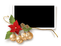 Isolated Christmas frame Stock Photography