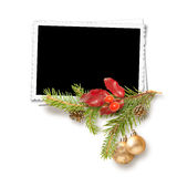 Isolated Christmas frame Royalty Free Stock Images