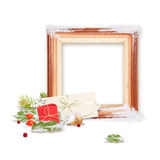 Isolated Christmas frame Stock Photo