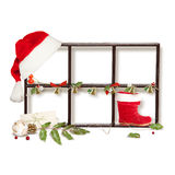 Isolated Christmas frame Royalty Free Stock Photo