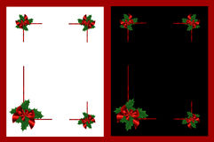 Isolated Christmas frames stock photo