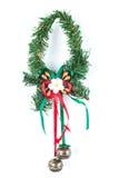 Isolated Christmas garland Stock Image