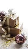 Isolated  christmas gifts on white Stock Images