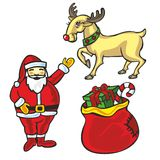 Isolated Christmas items Stock Images