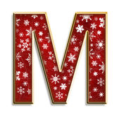 Isolated Christmas letter M in red Stock Image