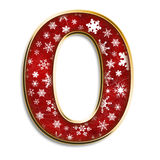 Isolated Christmas letter O in red Royalty Free Stock Images
