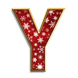 Isolated Christmas letter Y in red Stock Images