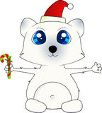 Isolated Christmas Polar Bear Stock Photo