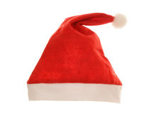 Isolated christmas santa hat stock photography