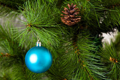 Isolated Christmas-tree decorations. 2016 happy new year Royalty Free Stock Photos