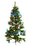 Isolated Christmas-tree decorations happy new year. Christmas-tree decorations merry christmas 2016 xmas close-up image object on white background stock images