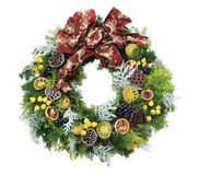 Isolated christmas wreath Stock Photo