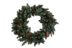 Isolated christmas wreath Stock Photos