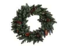 Isolated christmas wreath stock photos