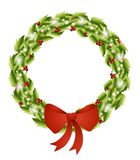 Isolated Christmas Wreath Bow 2 Stock Photography