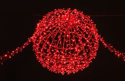 Isolated Christmass decoration. In Zagreb, Croatia Stock Images