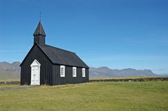 Isolated church. In Budir, Snaefellsnes Peninsula, West Iceland Stock Photography