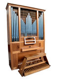 Isolated Church Organ. With metal pipes Stock Images