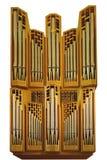 Isolated church organ Stock Photography