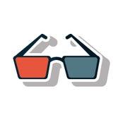 Isolated cinema 3d glasses design Stock Photo