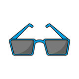 Isolated cinema 3d glasses design Stock Photography