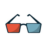 Isolated cinema 3d glasses design Royalty Free Stock Image