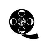 Isolated cinema film reel design. Cinema film reel icon. Movie video media and entertainment theme. Isolated design. Vector illustration Stock Photography